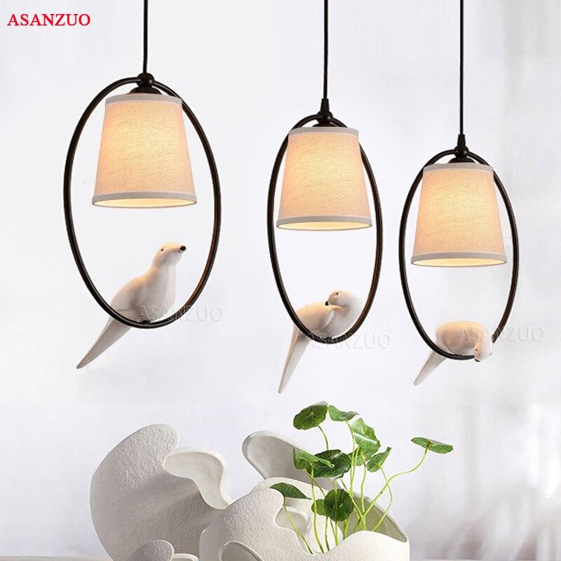 Loft Vintage oiseau lumière chambre salon restaurant café corridorr salle à manger lustre suspension luminaire suspension