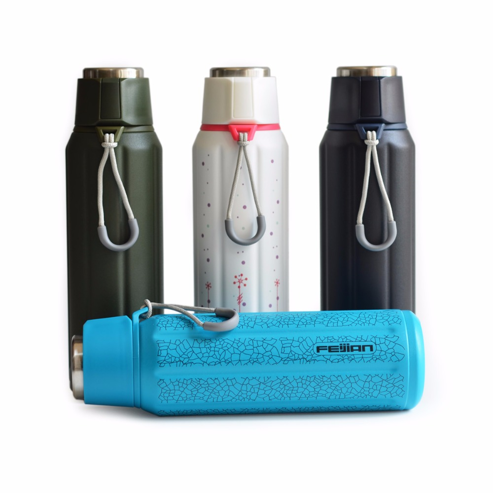 FEIJIAN Premium Thermos Flask Stainless Steel Thermo Cup Travel Mug Vacuum Insulated Sport Water Bottle Thermocup