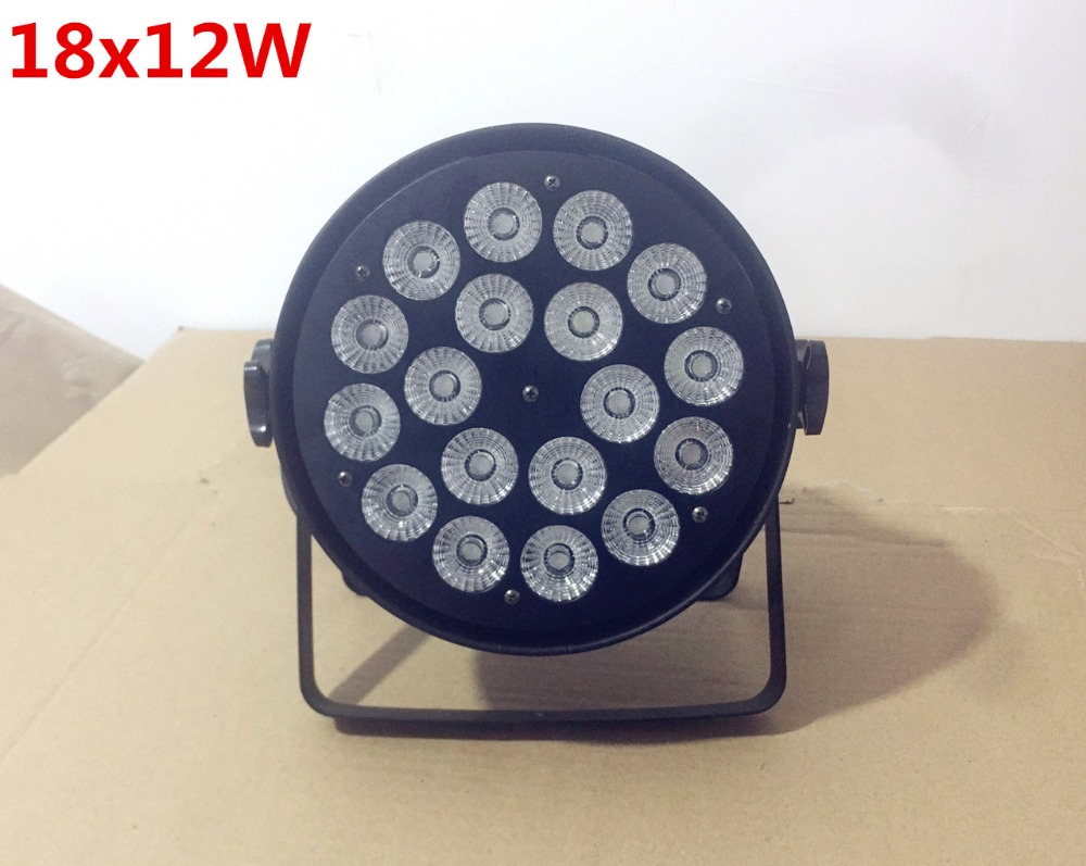 (6pcs) Disco Lamp stage light 4/8 channels LED Par Can RGBW 18x12W 18x15W RGBWA for Discos Music Stage Effect