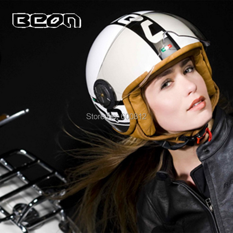 BEON half Face motorcycle helmet Prince retro electric bicycle helmets men and women B-110 made of ABS size M L XL