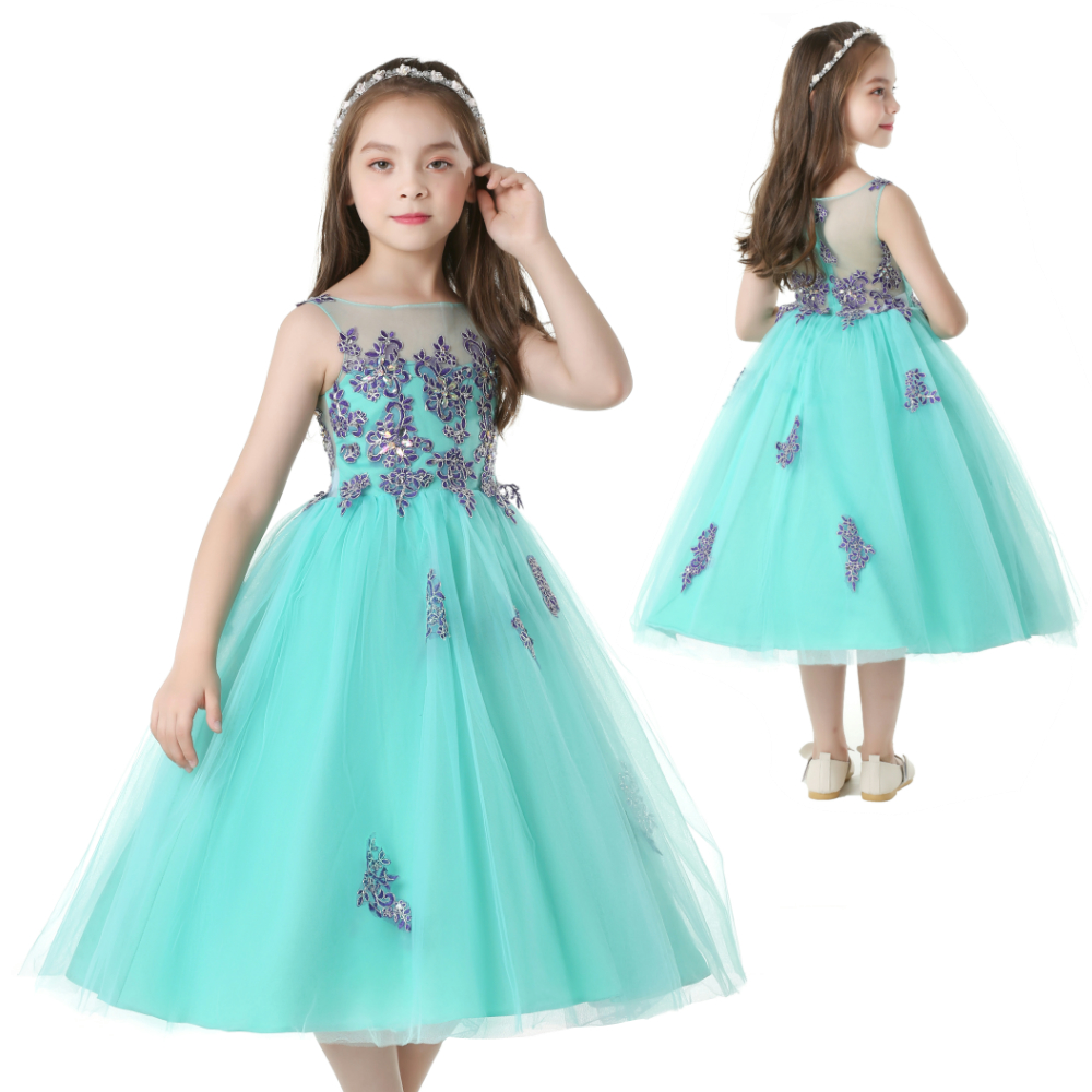 2018 Spring New Brand Children Snowflakes Princess Party Dress Girls ...