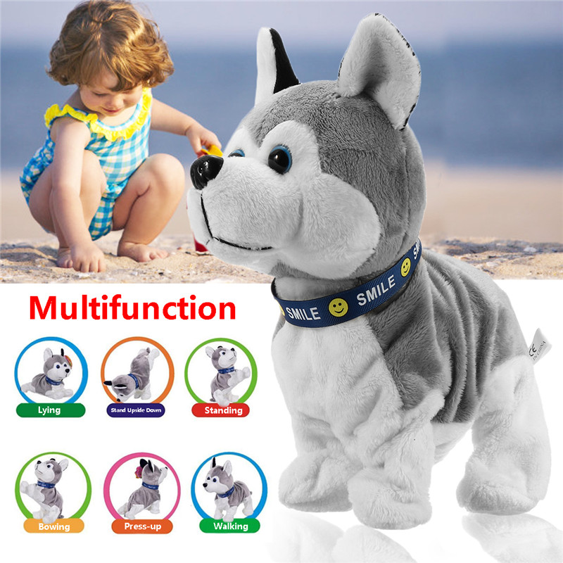 Interactive Dog Electronic Pet Toy KP3009 Control Walk Sound Husky Reacts touch Gift Toys Electronic Pet hot sale short plush chew squeaky pet dog toy