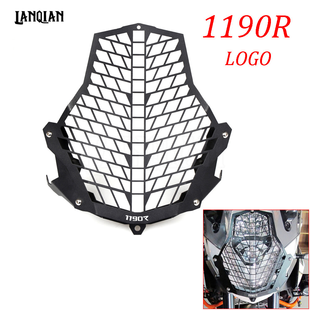 Hot For KTM 1190R Motorcycle Accessories Headlight Guard Front Lamp Protector Cover Stainless Steel All Years With LOGO for ktm excr