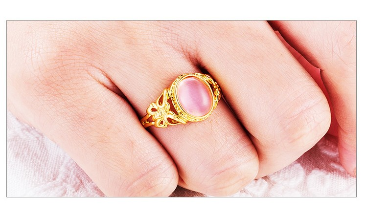 NEW Only Love Pink Silver Ring Band Wrap Heart Rings Stainless Steel Jewelry