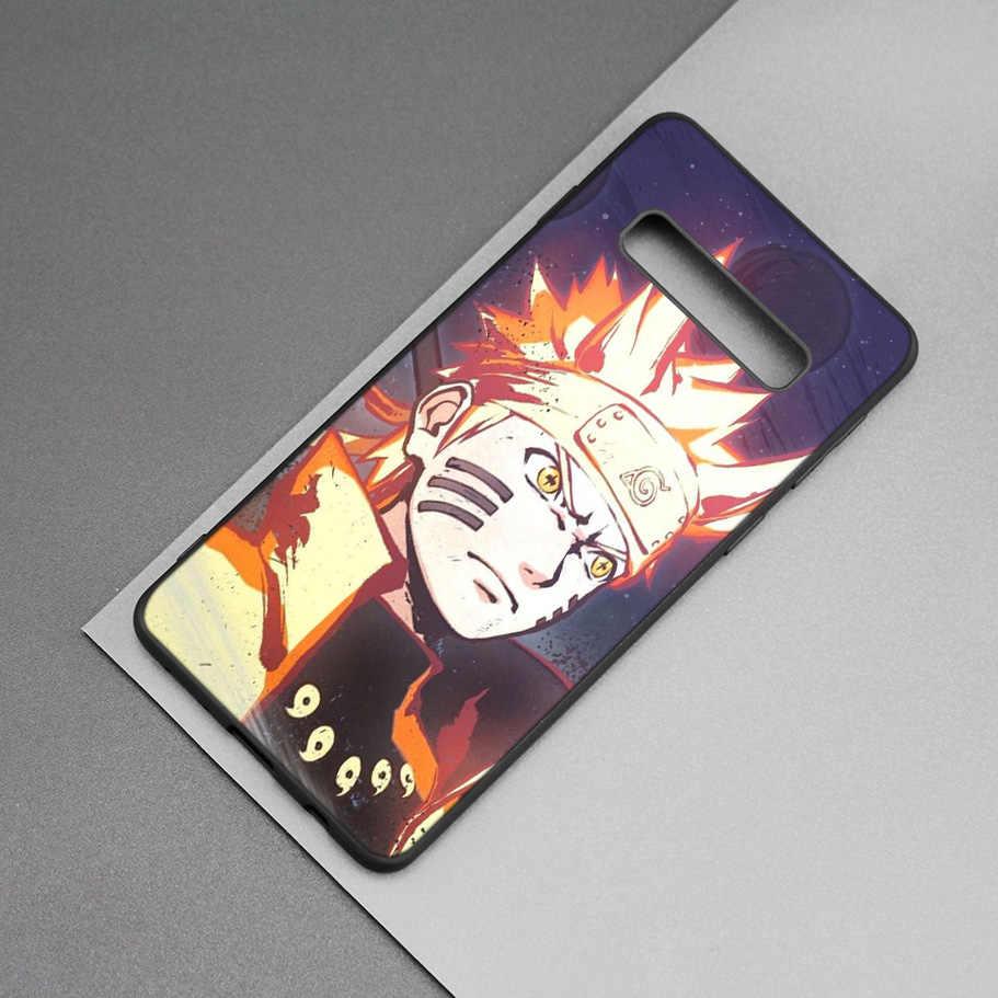 Sasuke Naruto Noir Silicone étui pour samsung Galaxy M20 S10e S10 S9 M10 S8 Plus 5G S7 S6 Bord Housse Coque