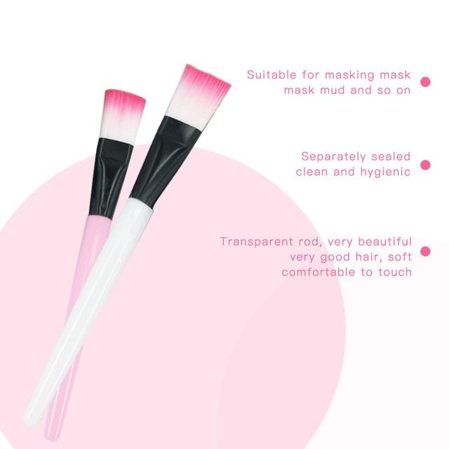 JHXY 1Pc Pro Single Foundation Concealer Mask Cream Makeup Brush Facial Mud Mask Brush Foundation Cream Contour Mix Makeup Tools 5