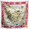 """Nueva Bufanda de Seda de la Mujer 35 """"90 cm Pañuelo Pintura de Flores y Pájaros de Estilo Tradicional Chino de Seda Sarga Chal SP168266"""