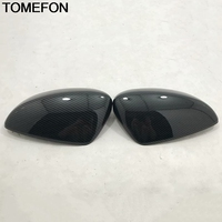 TOMEFON For Mazda 6 Atenza 2014 to 2018 Car Side Door Rear View Mirror Cap Frame Cover Trim Exterior Accessories ABS CarbonFiber