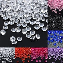 10 пакетов 4,5 мм Свадебные украшения комнаты ремесла алмазные конфетти Разбрасыватели конфетти для стола прозрачные кристаллы центральный события вечерние праздничные