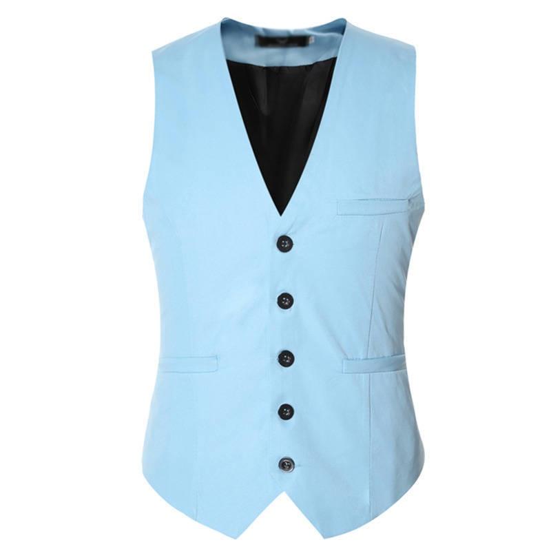2017 Men Vests Suit Tuxedo Spring Formal Male Waistcoat High Quality Solid Dress Vest Jacket 076