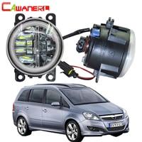 Cawanerl For Opel Zafira B MPV A05 2005 2011 Car H11 LED Lamp 4000LM Fog Light + Angel Eye Daytime Running Light DRL 2 Pieces