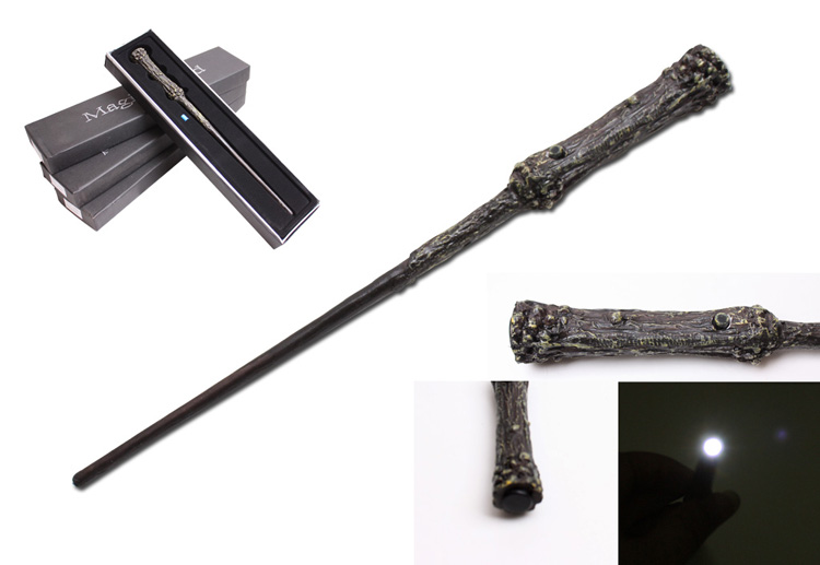 New Quality Deluxe COS Harry Potter Magical Wand LED Light Flashing/Black Gift Box in Harry Potter Wizarding World