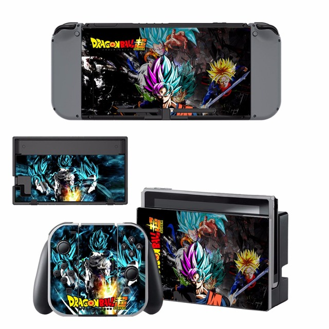 ARRKEO Dragon Ball Xenoverse 2 Protective Cover Vinyl Decal Skin Sticker for Nintend Switch NS Console & Wireless Controller  2