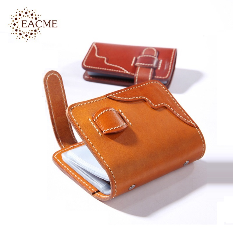 EACME Handmade Leather Bank Card Wallet Thin Men Credit Cards Bag ...