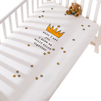 Baby Crib Fitted Sheet 100% Cotton Newborn Set Cot Sheets Infant Bedding Bedspread Mattresses Cribs Sheet Set