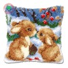 rabbit pillow cushion decor carpet Latch hook rug kits Pillowcase home pillow carpet crochet hooks yarn hook rug cushion mat