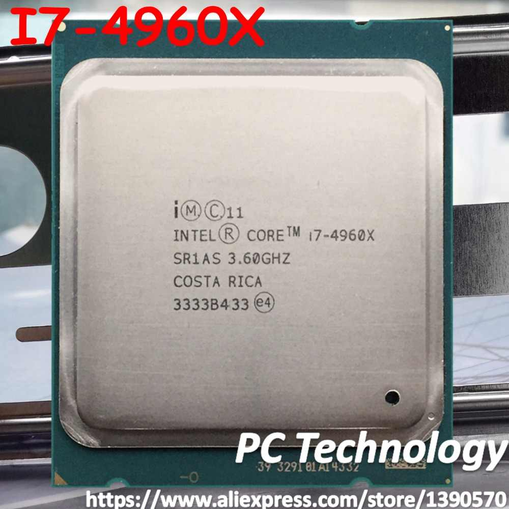 I7 4960X Original Intel Xeon I7-4960X CPU 6-cores 3.60GHZ 15MB 22nm LGA2011 I7 4960 X processor 1 year warranty free shipping