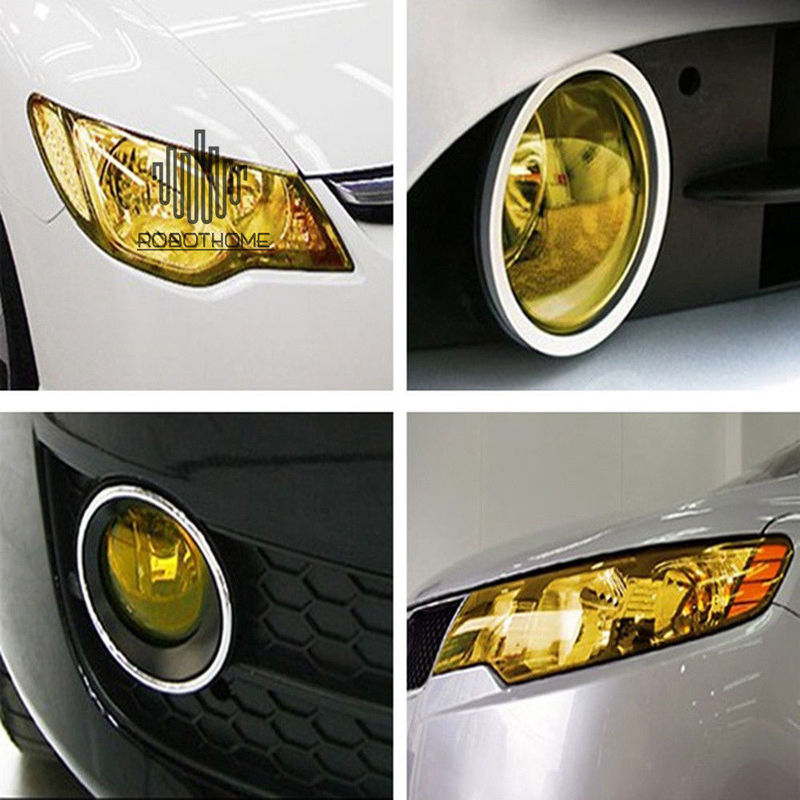 Vinyl Film Sheet Sticker Car Headlight Sticker Auto Fog Ight Taillight Self-Adhesive Tone Car Light Sticker Film Car Accessories