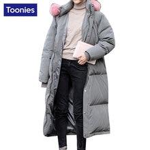 2017 New Arrival Women Down Cotton Coat Thickened Long Parka Women Jackets Coat Long Sleeved Women Winter Coat Hooded Jacket