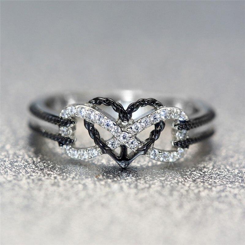 Schmuck & Zubehör Jexxi Einzigartige Design Charm Mixed Cubic Zirkon Kristall Mode Luxus Ringe Für Frauen Engagement Schmuck 925 Sterling Silber Ringe