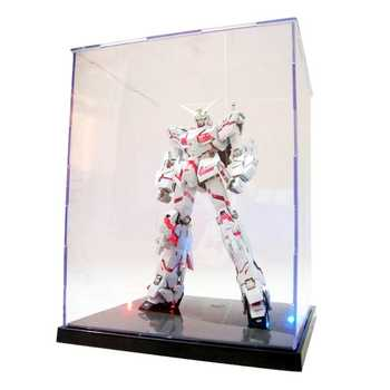 HBB Clear Acrylic Display Box With Colorful Light Dustproof Action Figure Showcase