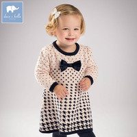 DB6214 Dave Bella Autumn Infant Baby Girl S Knitted Sweater Dress Kids Fashion Party Birthday Dress