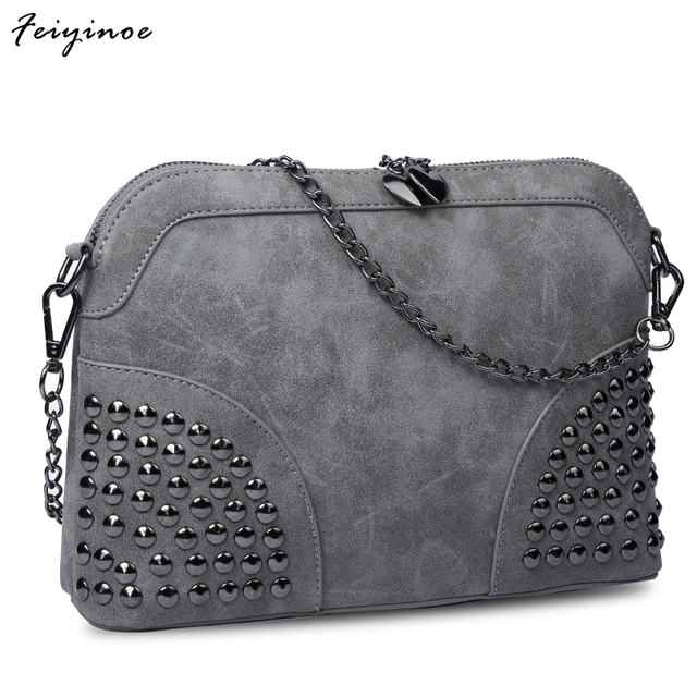 Women bag vintage shell chain small bag scrub fashion messenger bag female handbag
