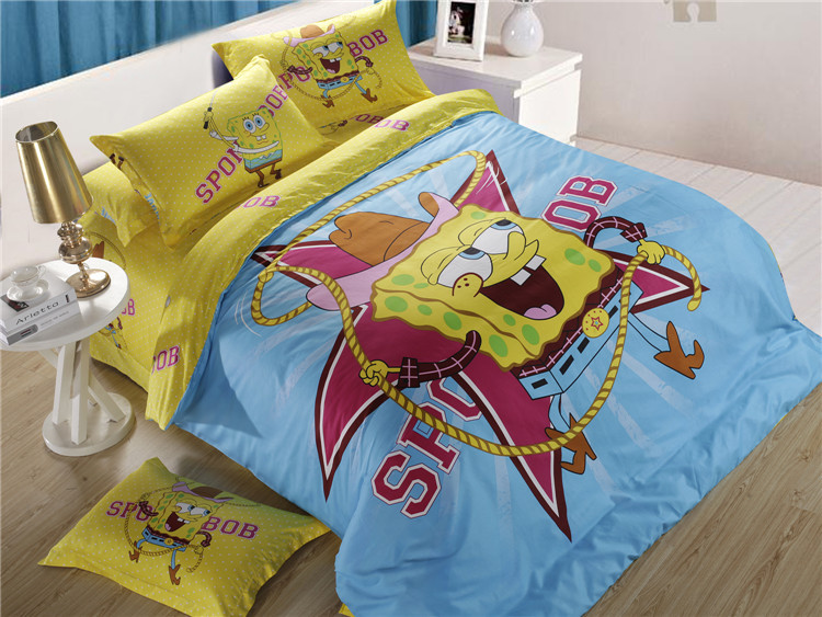 buy good quality 100 kids beddinghome queen beddingkids duvet coversking size flat sheets from reliable - Spongebob Bedroom Set