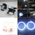 July King Front Bumper Bifocal Lens Fog Lamp With LED COB Angel Eye DRL case for Volkswagen Multivan T5 2003~09 Caravelle 14+