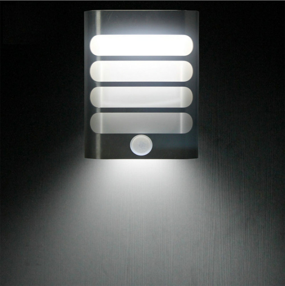 led aluminum wall lights wireless stick anywhere battery powered motion sensor lights wall. Black Bedroom Furniture Sets. Home Design Ideas