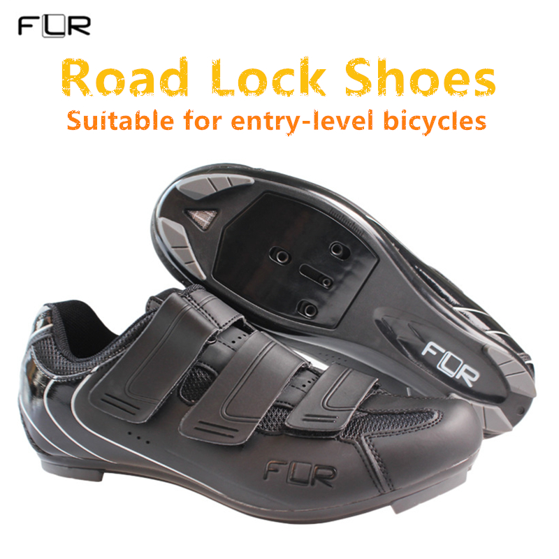 2018 NEW FLR Men's & Women's entry-level bicycle shoes Road lock shoes breathable ultralight team sports shoes road bike shoes