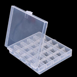 Image 3 - 25Pc Sewing Machine Bobbins Spools Empty Bobbins Spools Sewing Machine Plastic Storage Box For Home Sewing Accessories Tools