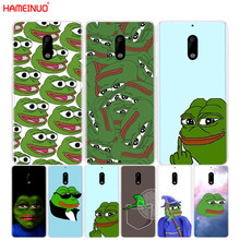 HAMEINUO Internet Meme Smug Frog Pepe cover phone case for Nokia 9 8 7 6 5 3 Lumia 630 640 640XL 2018(China)