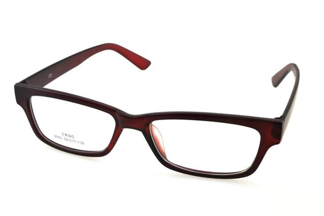 8c7359b9f0 Custom Made Progressive multifocal Bifocal prescription lens Eyeglasses See  Near Far Dark Red glasses frame spectacles +1To+6ADD