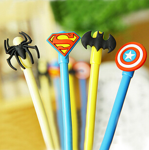 Novelty Super American Heroes Series Gel Ink Pen Promotional Gift Stationery Student Prize pen o henry prize stories 2009