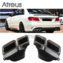 Atreus 1Set Chrome 304 Stainless Steel Exhaust Muffler/Tips For Mercedes Benz W222 W212 W205 R231 S65 S63 E63 Accessories