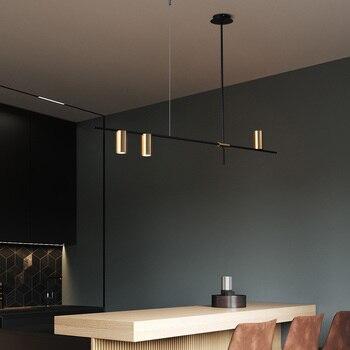 Led lampada a sospensione loft soggiorno moderno E Minimalista sala da pranzo lampadario lungo light design Nordic cucina di casa di illuminazione oro Quality Lighting Store