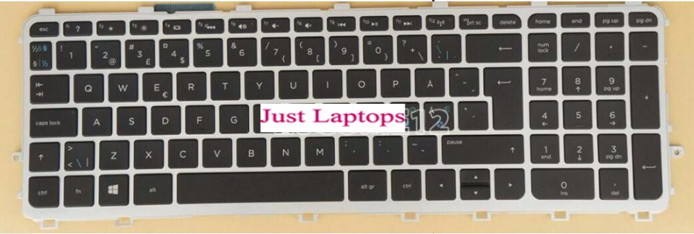 New Laptop keyboard for HP Envy 15z-j100 17-j000 17-j100 QWERTY SWEDISH/NORWEGIAN/DANISH/FINNISH/NORDIC столлайн шейла стл 301 венге