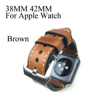 38 mm 42 mm de Apple correa, especial diseño hechos a mano reloj de cuero correa, 4 colores disponibles, para Iwatch Apple seguir, Shiping libre