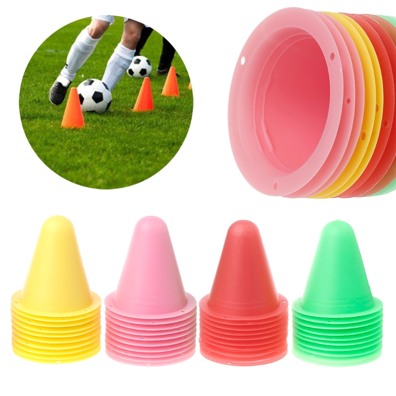 10 Pcs Skate Marker Cones Roller Football Soccer Training Equipment Marking Cup