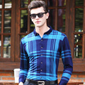 2016 New Fashion Autumn Long Sleeve Stripes Formal Classic Business Mens Dress Shirt