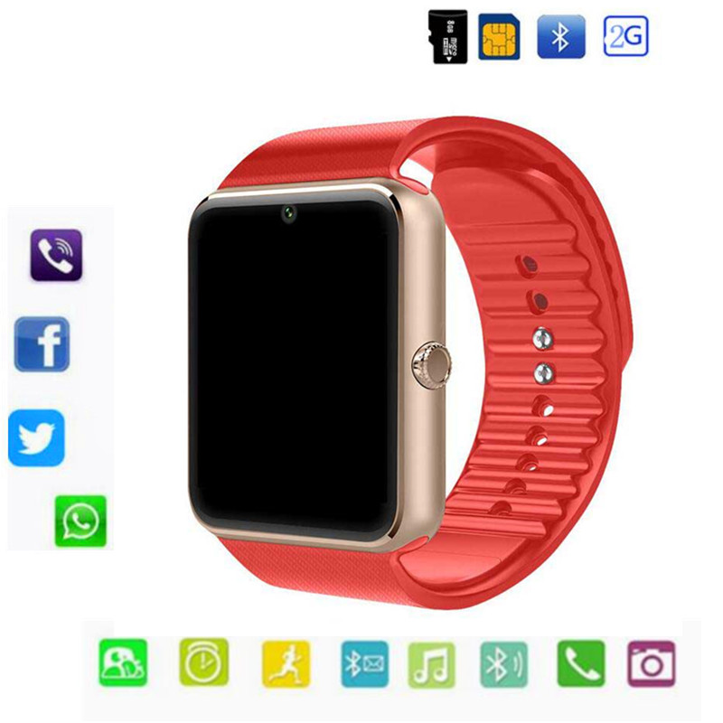 Bluetooth GT08 Smart Watch Support 2G SIM Max 8G TF Card Camera For Android  apple ios Children Women watch Phone With Retail Box