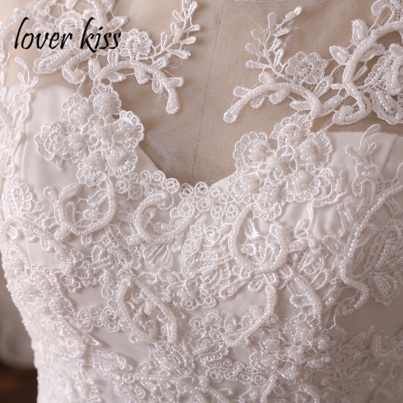 Lover Kiss robe de mariee Princess Mermaid Wedding Dresses Lace Beaded Ruffled Skirt Bridal Gowns Corset Real 2018 vestido noiva in Wedding Dresses from Weddings Events