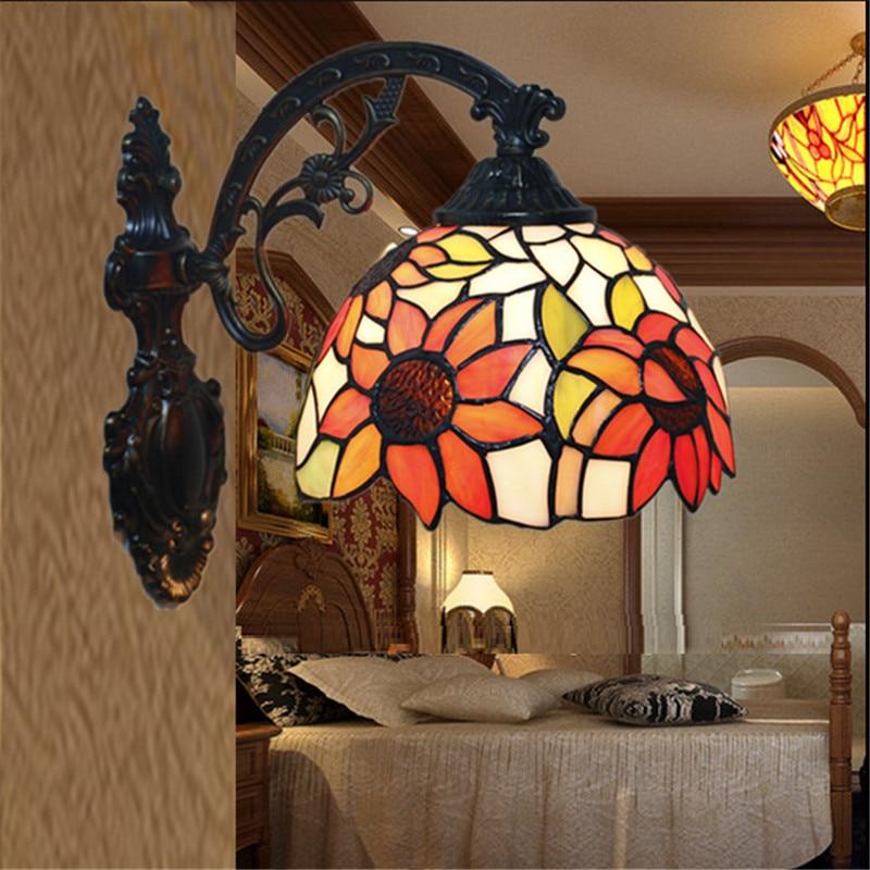 ФОТО Tiffany wall lamp, European style Baroque wall lamp ,20cm tiffany mirror lamp,wall light for balcony,bedroom, corridor TEN-W-006
