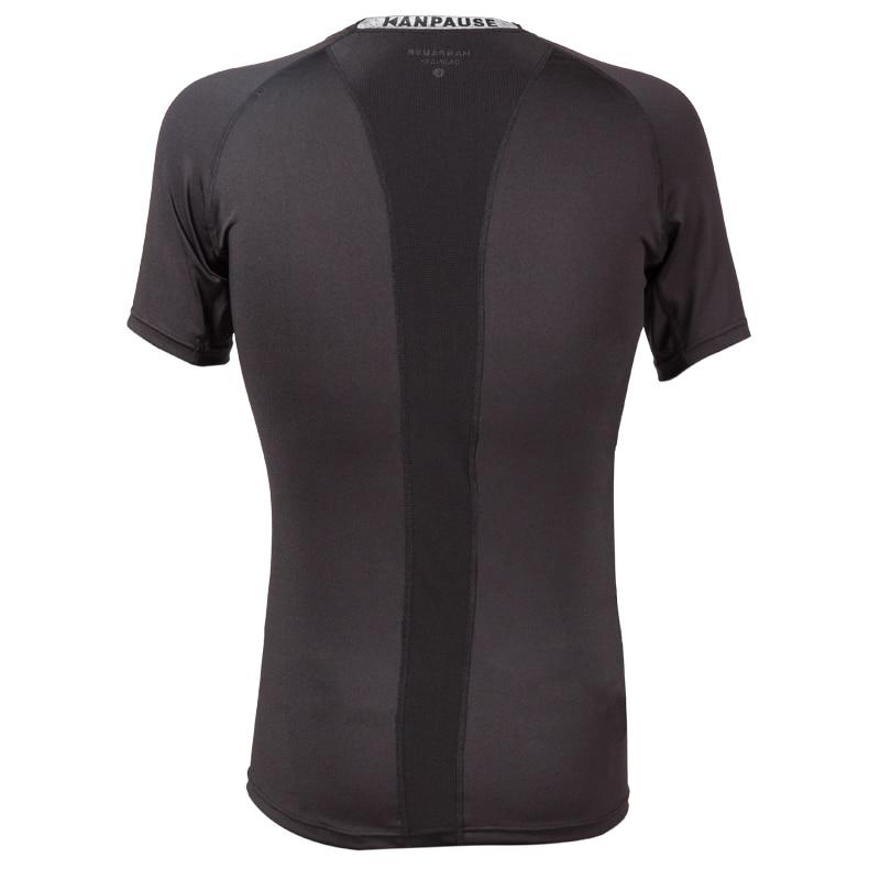 Nowość Męska koszulka treningowa z krótkim rękawem KANPAUSE - Ubrania sportowe i akcesoria - Zdjęcie 2