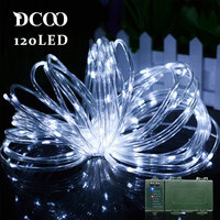 Vmanoo String Lights 120 LEDs Battery Operated String Outdoor Lighting Waterproof Party Lights Outdoor Guirlande Lumineuse