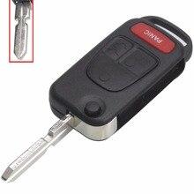 Jingyuqin for Benz MB ML350 ML500 ML320 ML55 AMG ML430 Folding Flip Key 4 Buttons Shell Case Cover HU39 Blade