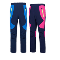 New Winter Children Outdoor Softshell Fleece Boys Girls Pants Casual Waterproof Teens Pants Hiking Camping Sports