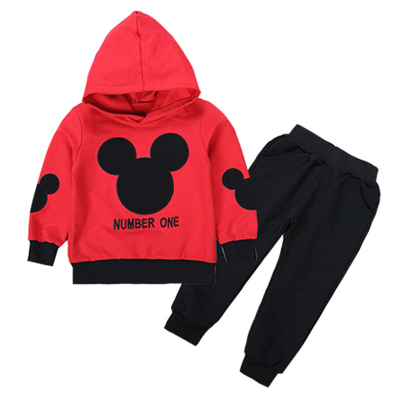 Toddler Boys Girls Clothing Sets 2018 Spring Autumn Baby Kids Mickey Mouse Clothes Casual 2pcs Sport Suits Children Tracksuits