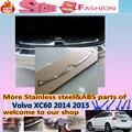 De alta Qualidade Para Volvo XC60 2014 2015 estilo Do Carro tampa placa Interna construída Rear Bumper Protector guarnição de Aço inoxidável pedal 1 pcs